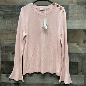Tory Burch Kimberly Sweater Coastal Pink NWT XL